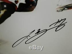 Lebron James Dwyane Wade Hand Signed Autographed 16x24 Uda 6/25 Photo Encadrée
