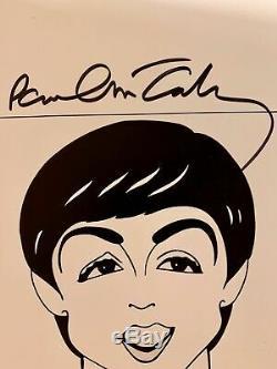 Les Beatles / Paul Mccartney / Véritable Main-signé / Original Kaplan Caricature
