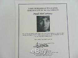 Les Beatles / Paul Mccartney / Véritable Signé À La Main Autograph / Todd Mueller / Coa
