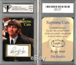 Les Beatles / Ringo Starr / CD Original Signé À La Main Veste Et Objets De Collection / Réel