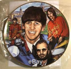 Les Beatles / Ringo Starr / Plate-signé À La Main / 1996 Gartlan