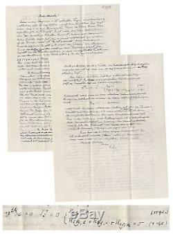 Lettre Autographiée D'albert Einstein Signée Sur Dieu Et La Science Avec Des Calculs En Main