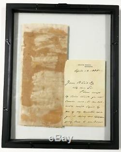 Lettre Autographiée Et Manuscrite, Signée À La Main Par Le Président Grover Cleveland