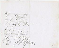 Lettre De 1876 Signée À La Main Par Franz Liszt. Coa