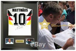 Lothar Matthäus Main Maillot Signé D'autographes Starsauthentic Preuve Coa Allemagne