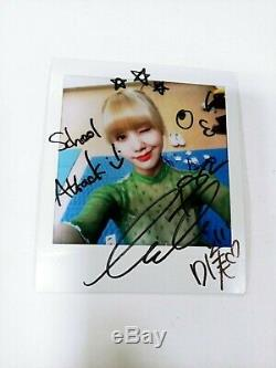 MIMI (oh my Girl) Autographié Main (signé) 1.5x Taille Polaroid