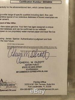 Mac Miller Main Blue Slide Signe Parc CD Framed Autograph Rare Jsa Coa Lettre
