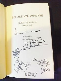 Madness Avant We Was Nous Hand Signed Livre Dédicacé Par Le Groupe Suggs