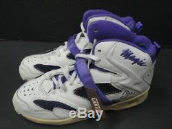 Magic Johnson Signée À La Main Jeu Autographié Utilisé Contre De Chaussures 1990 Adn De Jsa