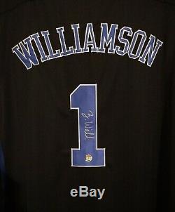 Maillot De Basket Zion Williamson Autographié Et Signé À La Main Avec Coa (duke) Taille XL