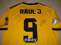 Main Raul Jimenez Signé Loups Autographiés Wolverhampton Wanderer Jersey Mexique
