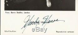 Marilyn Monroe Scarce Authentique Main Originale Signée Autograph Ufa Carte Postale