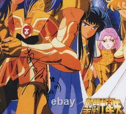 Masami Kurumada Saint Seiya Main Signée Autographe Photo Avec Coa