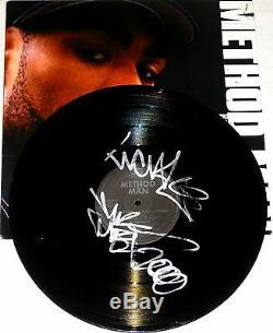 Méthode Man Wu-tang Clan Signé À La Main Autographé Enregistrement En Vinyle! Rare! Aveccoa