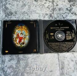 Michael Jackson Genuine Signé À La Main Autographe Sur L'album Dangereux Couverture / Travail D'art