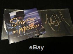 Michael Jackson Signée À La Main Stranger In Moscow Autographié CD Non Promo