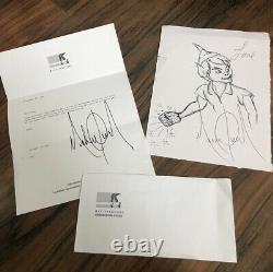 Michael Jackson Tirage À La Main Peter Pan Sketch Signé Mjj Productions Loa Autograph