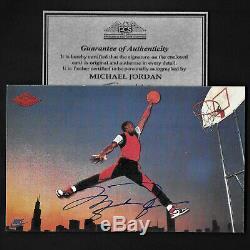 Michael Jordan, Carte Autographiée Promo Nike Rp 5x3 1985 Signée Avec Coa Rare