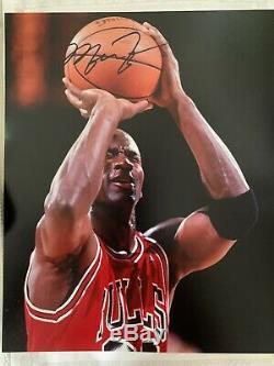 Michael Jordan Chicago Bulls Nba Main Signé Autographes Photo Avec Coa