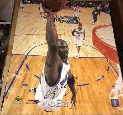 Michael Jordan S. A. Dernière Jeu Signée À La Main 16x20 Photo Autographiée Withcoa Assistants