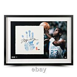 Michael Jordan Signé Autographied Tegata Lithographie Main Chicago Unc #/123 Uda