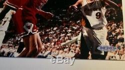 Michael Jordan Signée À La Main Autographe Photo 8x10 Upper Deck Authentique Dernière Danse