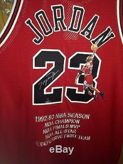 Michael Jordan Uda Upper Deck Autographe Signé Peint À La Main 1997-98 Jersey 1/1