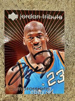 Michael Jordan Upperdeck Tribute Impressions Autograph Card Hand Signé Rare