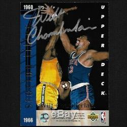 Michael Jordan / Wilt Chamberlain Upper Deck Double Main Signé Carte Autographe Withcoa