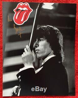Mick Jagger Et Bill Wyman Des Rolling Stones Signée À La Main Autographes