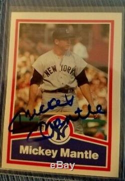 Mickey Mantle Autographié Cartes (signée À La Main)