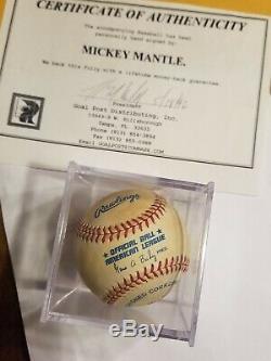 Mickey Mantle Dédicacé À La Main Au Baseball Signé Mlb Hof Yankees Coa Estate Sale