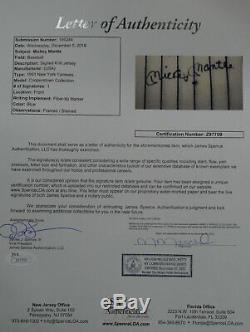 Mickey Mantle Signée À La Main Jersey Autograph Auto De New York Yankees Framed Jsa Letr