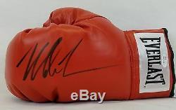 Mike Tyson Gant De Boxe Evergaste Rouge Signé Gaucher, Témoin Jsa