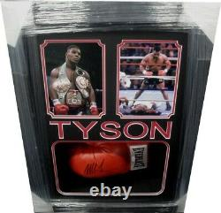Mike Tyson Main Signée Autographed Boxing Glove Custom Framed Shadowbox Jsa Coa