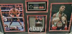 Mike Tyson Main Signée Autographed Punch Out Photo Avec Jeu + Contrôleur Encadré