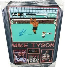 Mike Tyson Signé À La Main Autographié Punch Out Photo Avec Jeu + Contrôleur Encadré
