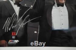 Mike Tyson Signée À La Main Autographié 16x20 Photo Avec Muhammad Ali Don King, Jsa Coa