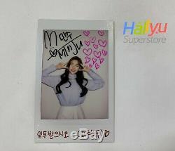 Minju (de Gwsn) Autographié Main (signé) Polaroid
