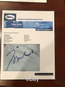 Muhammad Ali Autographié Boxe Trunks Imprimer Main Et Pic Et Coa