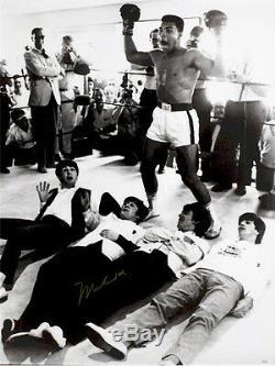 Muhammad Ali & The Beatles Rare - Coa - Grand 40x30 - Autographe Signé À La Main - Autographe Signé