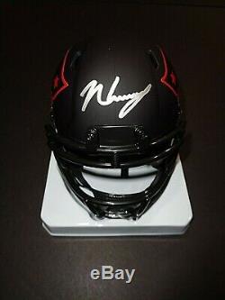 N'keal Harry New England Patriots Main Autographié Signé Mini Casque Coa Jsa