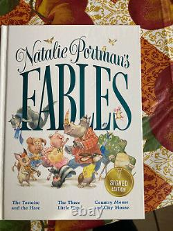 Natalie Portman Fables Hard Signé Auto Autograph Book Rare In Hand