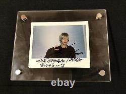 Nct127 Yuta Authentique Signature À La Main Polaroid Dédicacé Signé Nct