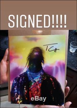 Nouveau Travis Scott Lithographie Dédicacée Autographiée Signée Astroworld Limited, Rare Dans La Main