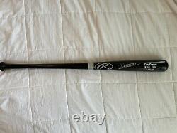 Ny Yankees Derek Jeter Autographié Bat De Baseball À Gros Bâton Signé À La Main 34 Nr