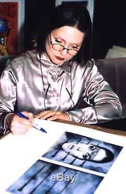 Oeuvre Hr Giger Kou Kou Autographié Debbie Harry Blondie Signée À La Main