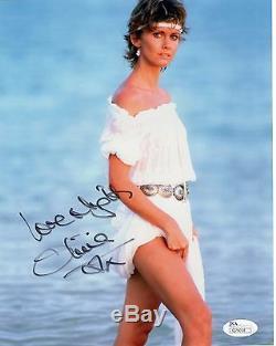 Olivia Newton John Hand Signée 8x10 Photo Couleur Magnifique + Sexy Pose Jsa