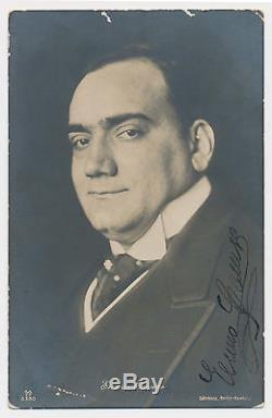 Opera Star Tenor Enrico Caruso Superbe Photo Autographiée Et Signée À La Main Au Format 14x9