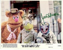 Original Signé À La Main Par Jim Henson Great Muppet Caper Lobby Card Autograph Kermit